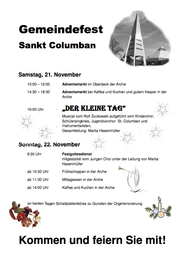 plakat und Flyer columbansfest 2015