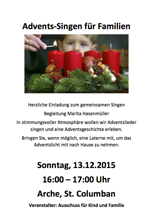 Flyer Adventssingen 2015 Copy